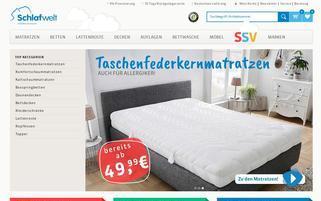 Schlafwelt Webseiten Screenshot
