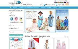 Schlummersack Webseiten Screenshot
