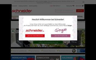 Schneider Webseiten Screenshot