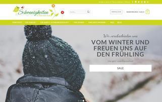 Schoenigkeiten Webseiten Screenshot