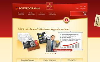 Schokogramm Webseiten Screenshot