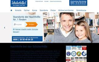 Schülerhilfe Webseiten Screenshot