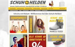 Schuh-Helden Webseiten Screenshot