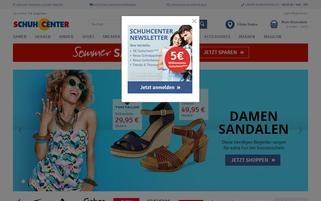 Schuhcenter Webseiten Screenshot