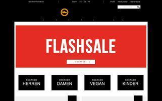 Schuhdealer Webseiten Screenshot