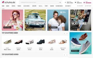 Schuhe.de Webseiten Screenshot