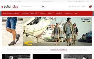 SCHUHPLUS Webseiten Screenshot