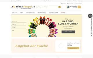 SchuhTempel24 Webseiten Screenshot