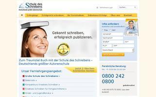 Schule des Schreibens Webseiten Screenshot