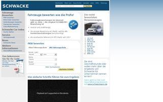 Schwacke Webseiten Screenshot
