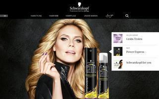 Schwarzkopf Webseiten Screenshot