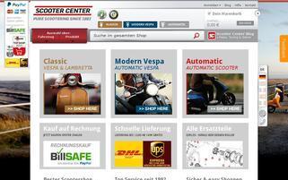 Scooter Center Webseiten Screenshot
