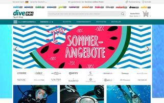 scubastore.com Webseiten Screenshot