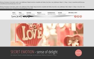 SECRET EMOTION Webseiten Screenshot