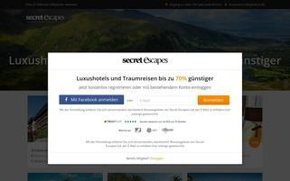 Secret Escapes Webseiten Screenshot