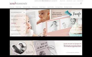 sendmoments Webseiten Screenshot