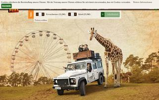 Serengeti Park Webseiten Screenshot