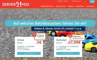 Server4You Webseiten Screenshot