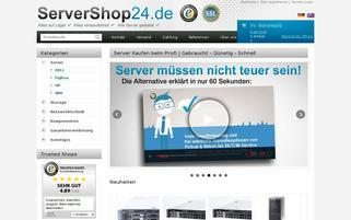 ServerShop24 Webseiten Screenshot