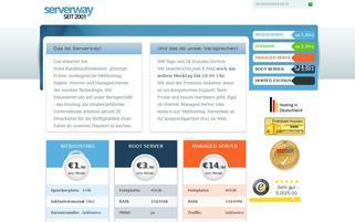 Serverway Webseiten Screenshot