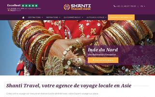 Shanti Travel Webseiten Screenshot