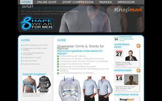 Shapewear for Men Webseiten Screenshot
