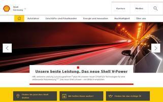 Shell Webseiten Screenshot