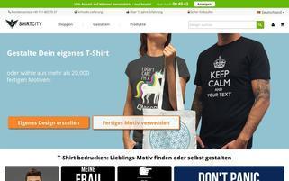 Shirtcity Webseiten Screenshot