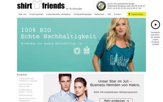 Shirtfriends Webseiten Screenshot