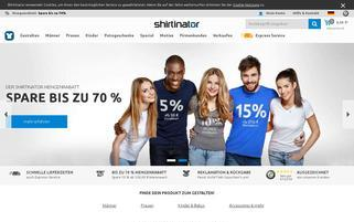 shirtinator.de Webseiten Screenshot