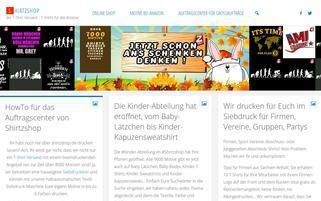 Shirtzshop Webseiten Screenshot