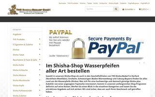 shisha-bedarf.com Webseiten Screenshot
