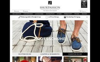 SHOEPASSION Webseiten Screenshot