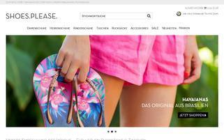 Shoes.Please Webseiten Screenshot