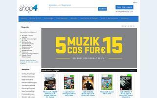 shop4de Webseiten Screenshot