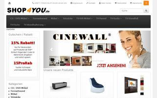 Shop4you Webseiten Screenshot