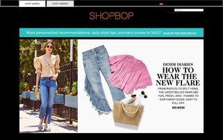 Shopbop Webseiten Screenshot