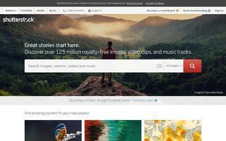 Shutterstock Webseiten Screenshot
