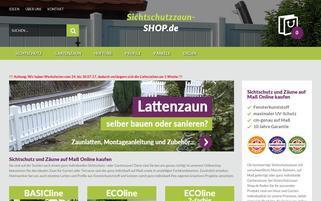 sichtschutzzaun-shop.de Webseiten Screenshot