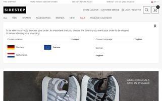 sidestep-shoes.com Webseiten Screenshot