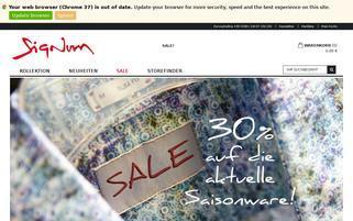 Signum Webseiten Screenshot