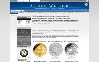 Silber-Werte Webseiten Screenshot