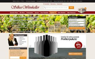 Silkes Weinkeller Webseiten Screenshot