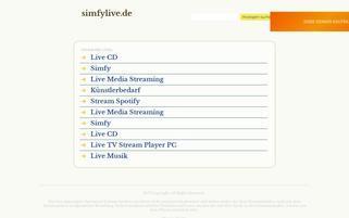 simfylive Webseiten Screenshot
