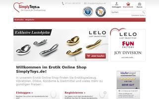 Simply Toys Webseiten Screenshot