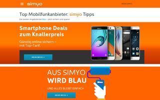 Simyo Webseiten Screenshot