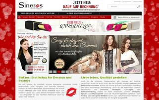 sineros.com Webseiten Screenshot