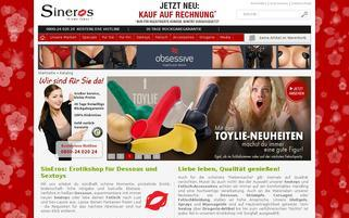 sineros.de Webseiten Screenshot