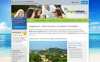 Singlereisen.de Webseiten Screenshot