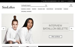 SinnLeffers Webseiten Screenshot